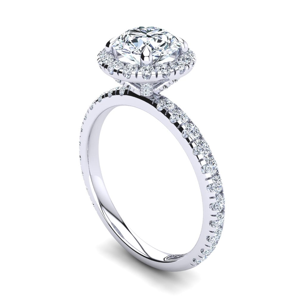 'Skye' Round Brilliant Cut Engagement Ring