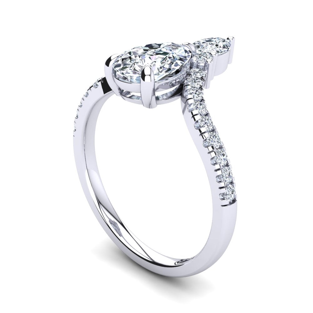 'Paige' Pear Cut Engagement Ring