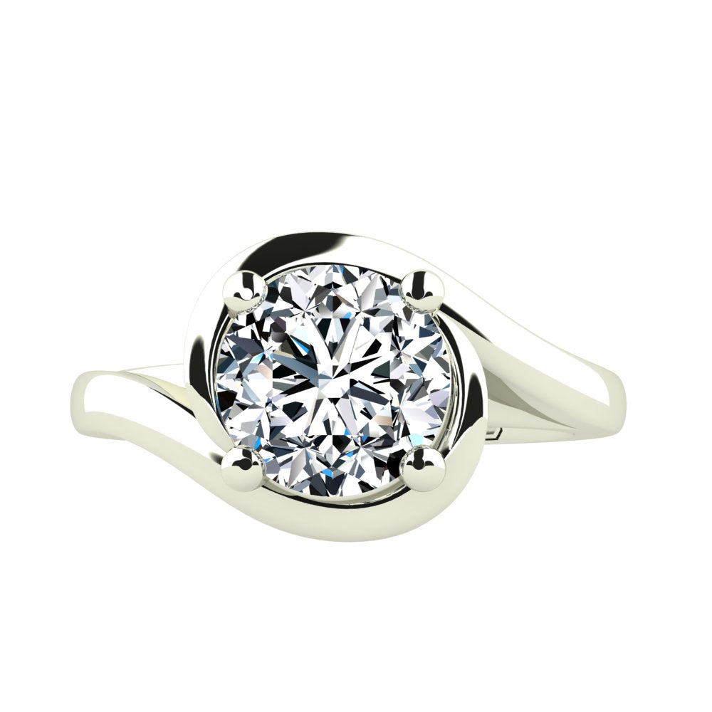 'Layla' Round Brilliant Cut Engagement Ring