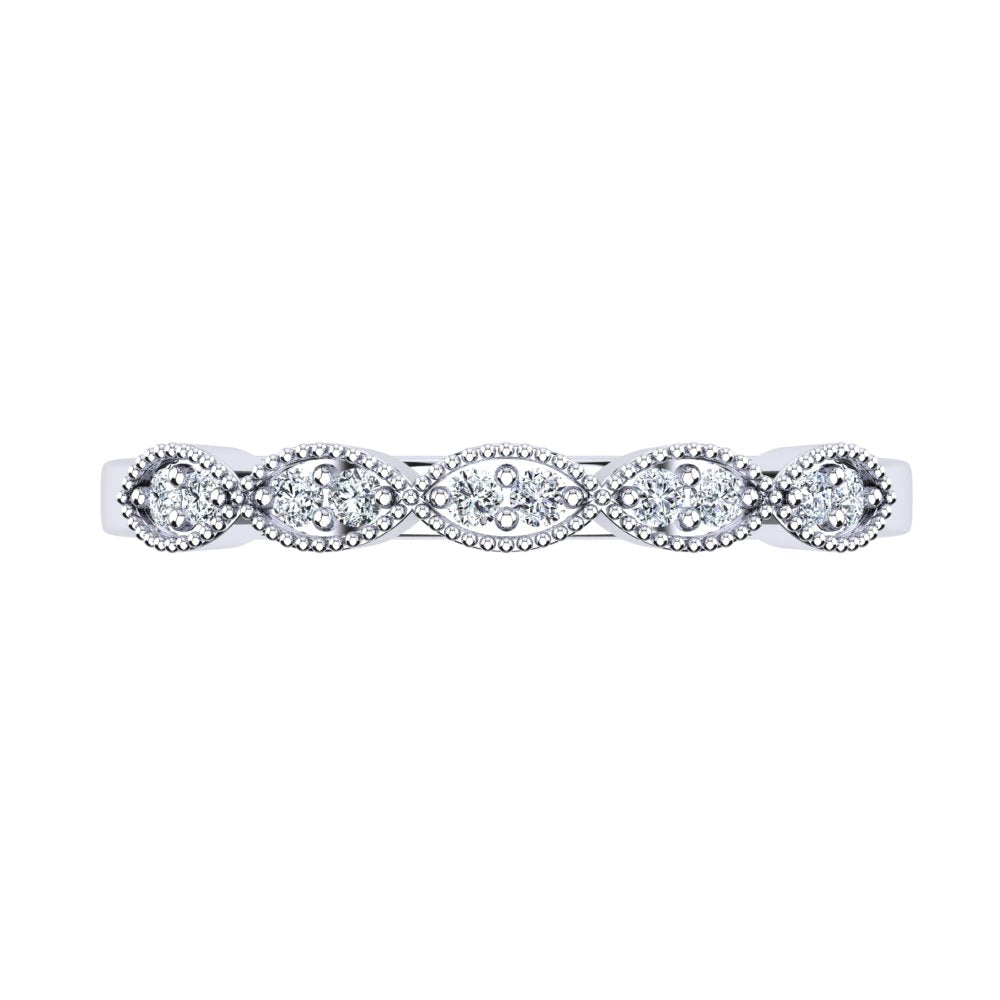 'Brie' Diamond Wedding Band