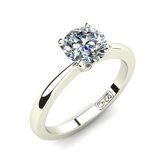 Platinum, Solitaire Setting with Tapered Band