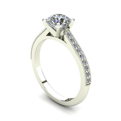 'Nadia' Round Brilliant Cut Engagement Ring