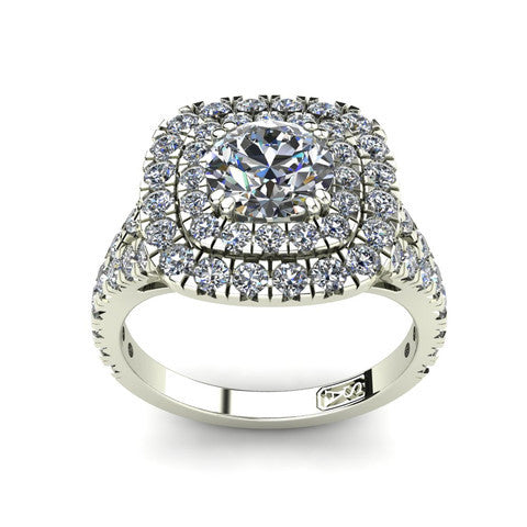 'Emma' Round Brilliant Cut Engagement Ring