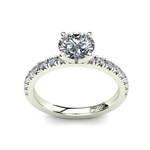 'Emily' Round Brilliant Cut Engagement Ring