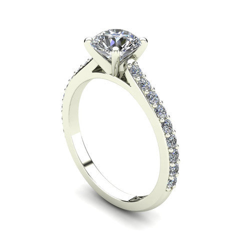 'Sasha' Round Brilliant Cut Engagement Ring