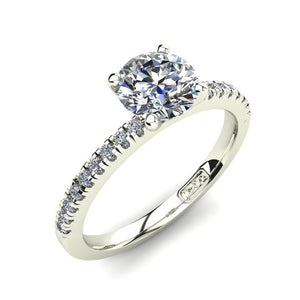'Chloe' Round Brilliant Cut Engagement Ring