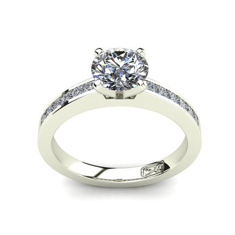 'Lydia' Round Brilliant Cut Engagement Ring