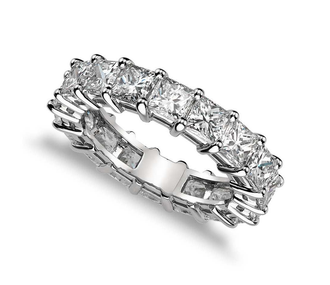 in eternity band set diamond zoom platinum bands cut channel wedding princess