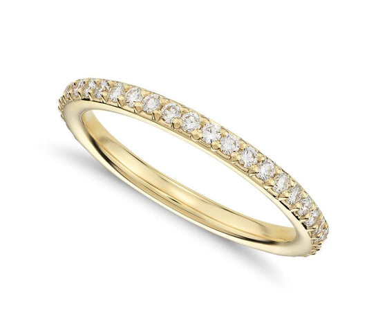 Round Brilliant Pave Set Eternity Band