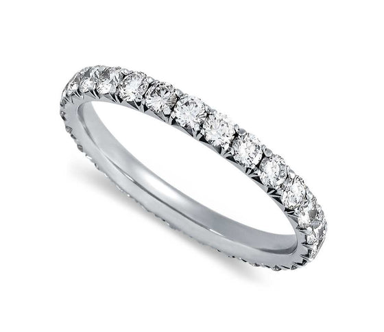 Round Brilliant Large Pave Set Eternity Band