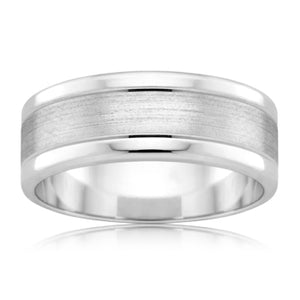 Parrallel Grain Mens Ring