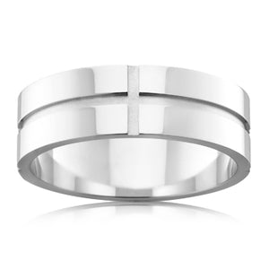 Channel Cut Mens Ring