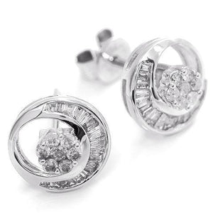 Diamond earrings set in 18kt White gold (1/3 ct.tw.)