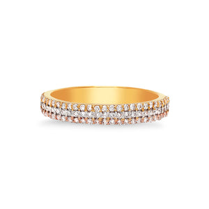 Three Diamond Row Ring