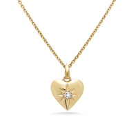 Diamond Starburst Heart Necklace