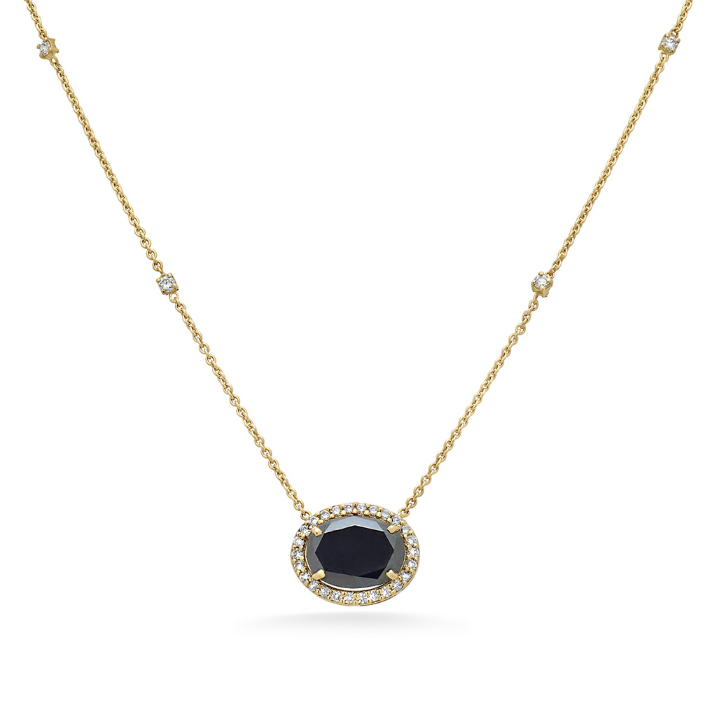 Organic Black Diamond Necklace