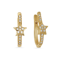 Diamond Mini Star Hoops