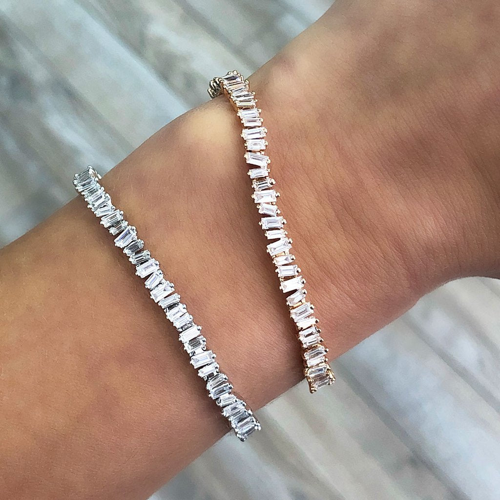 Diamond Eternity Baguette Cut Bracelet