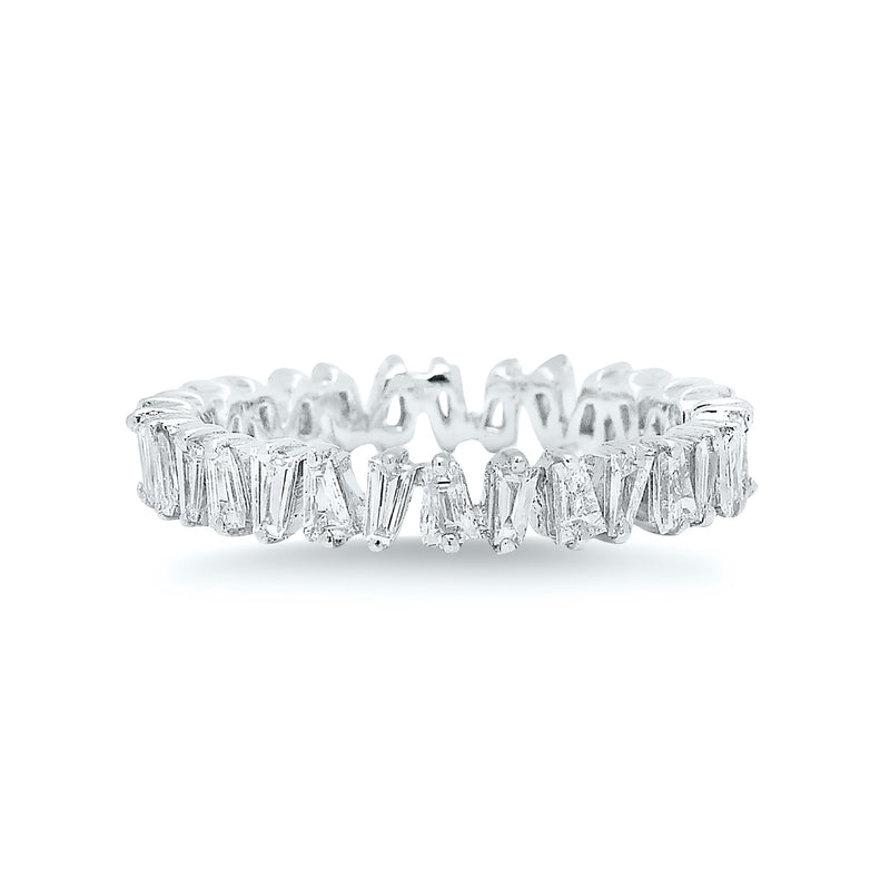 White Diamond Baguette Eternity Band