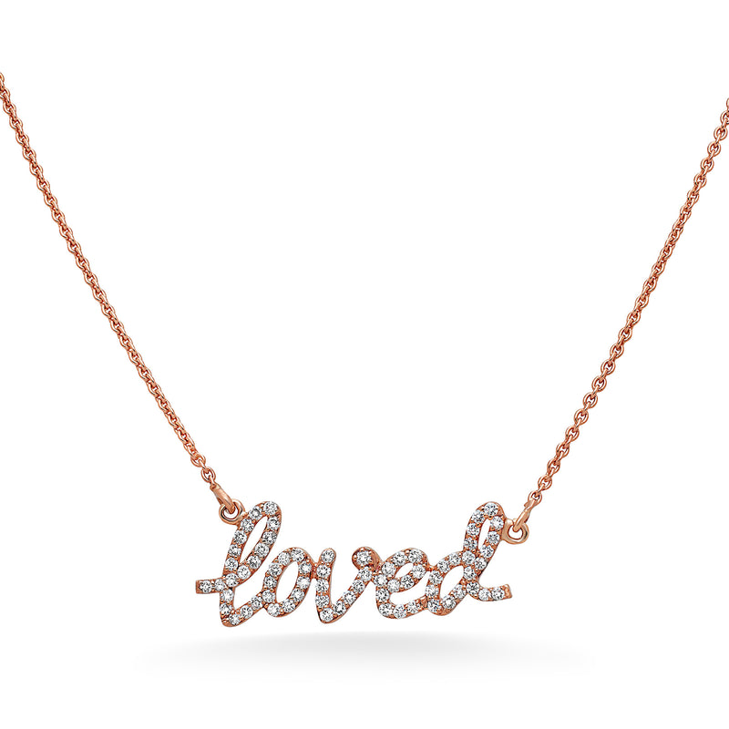 "Diamond ""Loved"" Necklace"