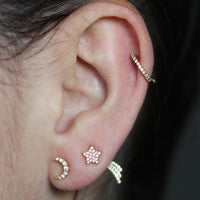 Diamond Mini Moon Studs