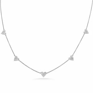 Diamond Heart Bezel Necklace