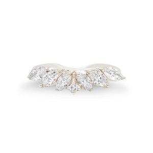 White Diamond Marquise Ring Guard