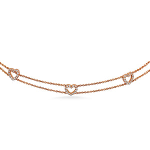 Diamond Hearts Choker