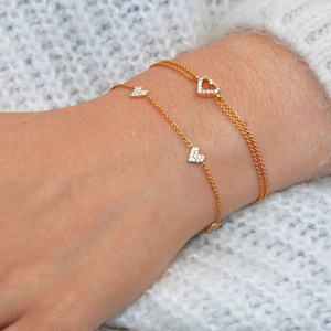 White Diamond Heart Bracelet
