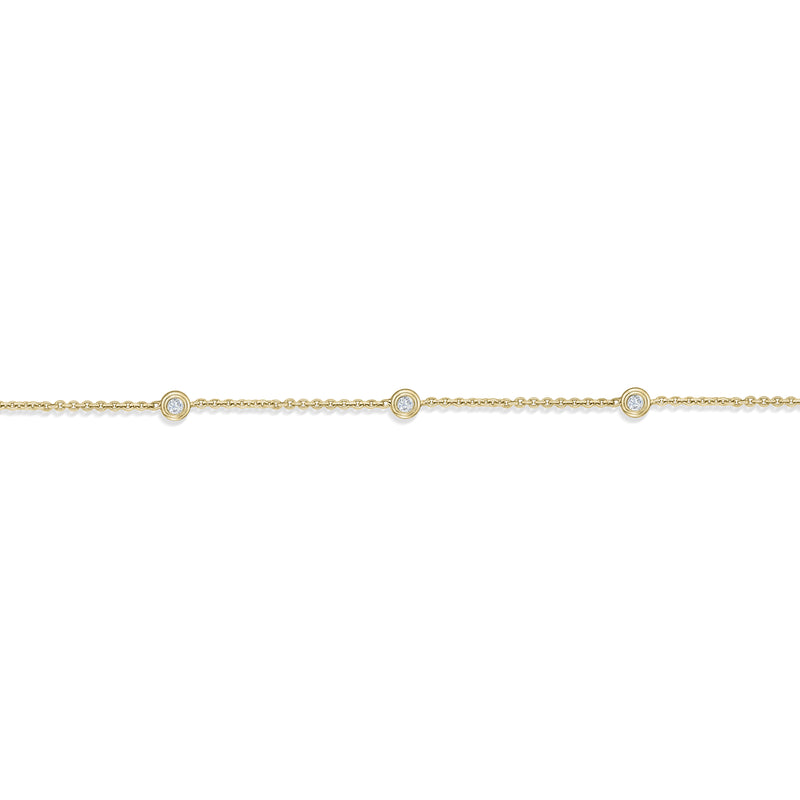 Diamond Five Bezel Bracelet