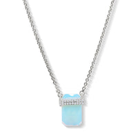 Diamond Moonstone Moonstone Bar Necklace