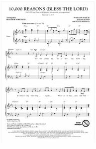 10,000 Reasons (Bless the Lord) SATB - Arr. Heather Sorenson