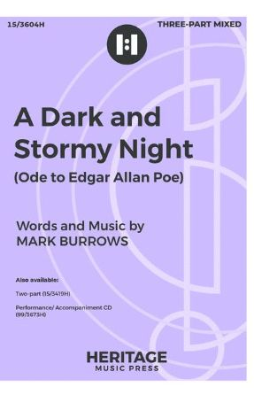 A Dark and Stormy Night 3-Part Mixed - Mark Burrows