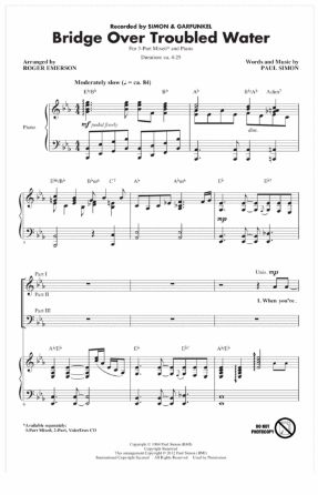 Bridge Over Troubled Water 3-Part Mixed - Arr. Roger Emerson