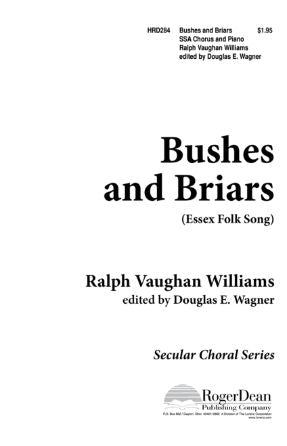 Bushes And Briars SSA - Ralph Vaughan Williams, Ed. Douglas E. Wagner