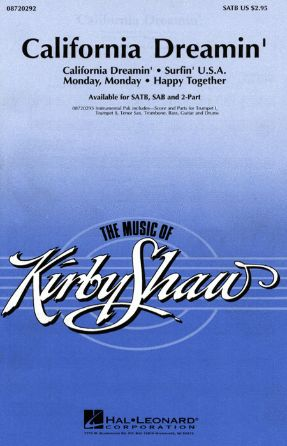 California Dreamin' SATB - arr. Kirby Shaw