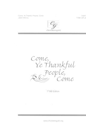 Come, Ye Thankful People, Come - Jason McCoy