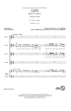 Cups (When I'm Gone) SSAA - arr. Deke Sharon
