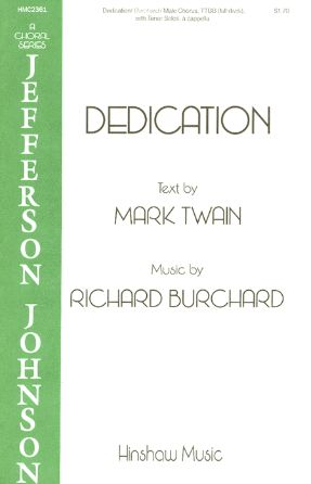 Dedication TTBB - Richard Burchard
