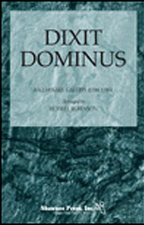 Dixit Dominus SSA - Galuppi, Arr. Russell Robinson
