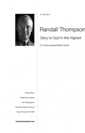 Glory To God In The Highest - Randall Thompson
