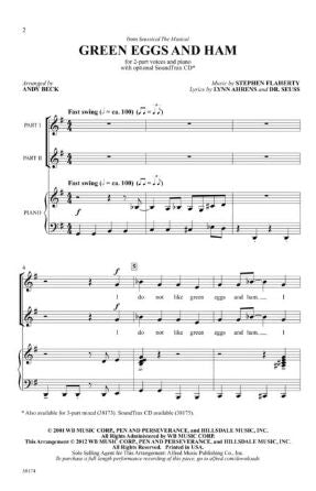 Green Eggs And Ham 2-Part - Arr. Andy Beck