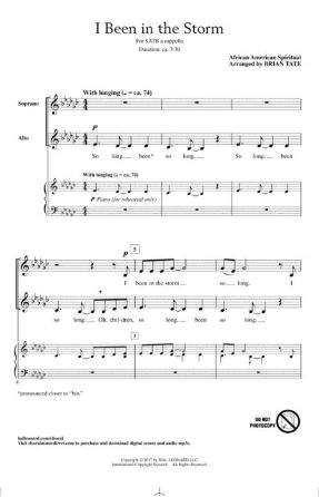 I Been In The Storm SATB - Arr. Brian Tate