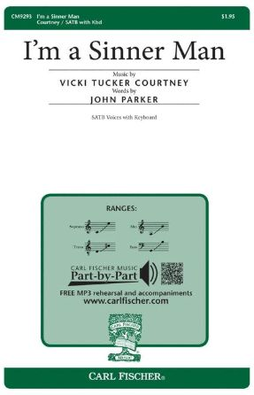 I'm A Sinner Man SATB - Vicki Tucker Courtney