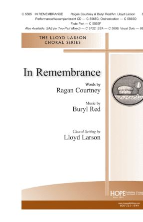 In Remembrance SATB - Buryl Red