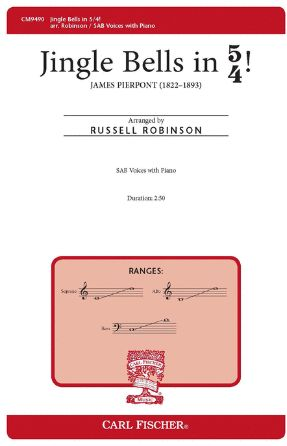 Jingle Bells In 5 4 SAB - Arr. Russell Robinson
