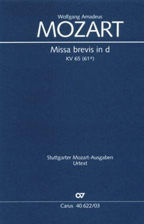 Kyrie (Missa Brevis In D Minor K. 65) SATB - Mozart