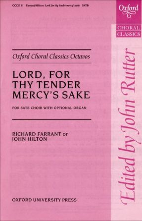 Lord, For Thy Tender Mercy's Sake SATB - John Hilton, Ed. Miles