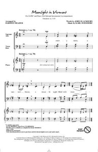 Moonlight In Vermont SATB - Arr. Darmon Meader