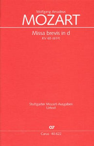 Sanctus (Missa Brevis in d minor K. 65) SATB - Mozart
